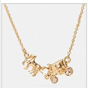 NWT Coach Horse & Carriage necklace